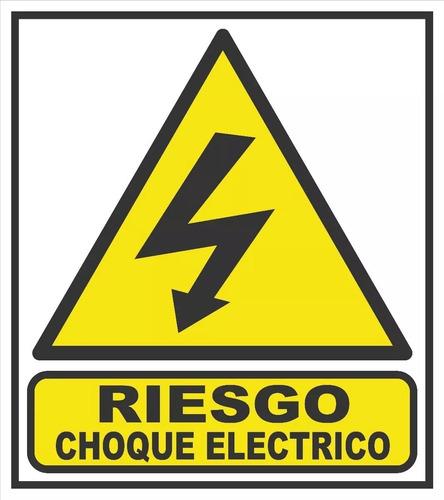 cartel calco riesgo choque eléctrico 9x14 local centro  fca
