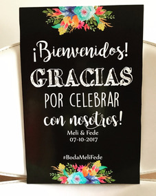 Cartel Casamiento 15 Años Eventos Bodas Bienvenida 30x42