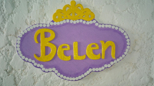cartel centro de mesa princesita sofia