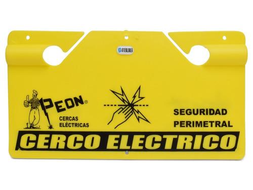 cartel cerco electrico cerca peligro boyero seguridad alarma
