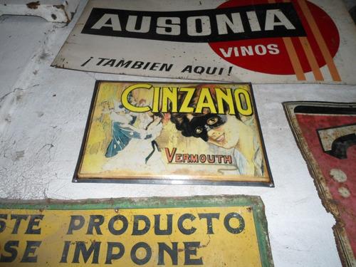cartel chapa cinzano  propaganda publicidad replica bombe