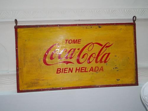 cartel chapa coca cola