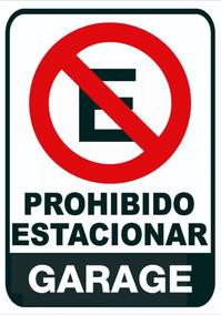 Cartel Chapa Decorativa Prohibido Estacionar Garage