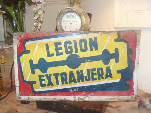 cartel chapa legion extranjera no esmaltado