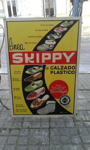 cartel chapa litografiada skippy calzado