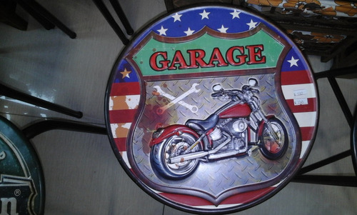 cartel chapa moto garage 40 cns
