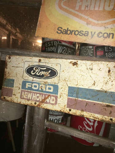 cartel chapa new holland ford