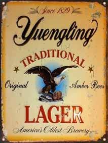 cartel chapa publicidad antigua yuengling beer cerveza p578