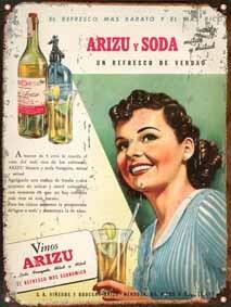 cartel chapa publicidades antiguas 1945 vinos arizu l582