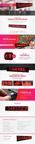 cartel chico 70 cm led programable
