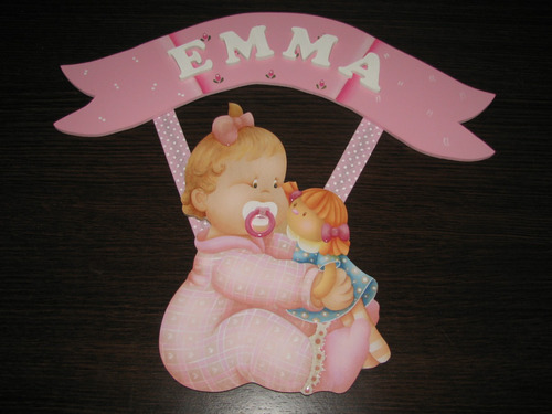 cartel con nombre para bebe baby shower regalo de nacimiento