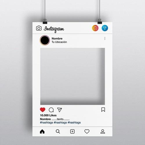cartel cuadro marco de fotos instagram - listo en 24hs.