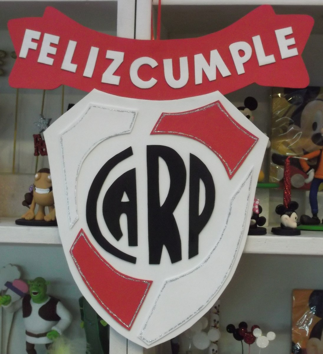 Cartel Cumpleanos River Plate Goma Eva  Cm  En Mercado Libre