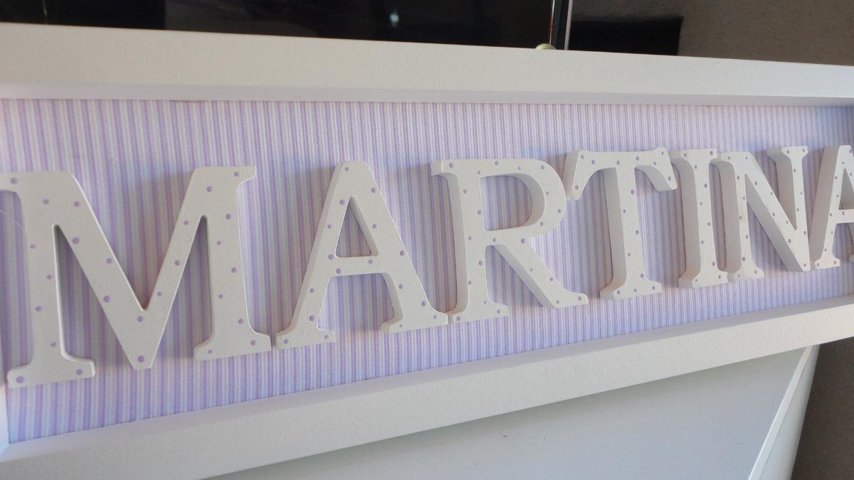 Cartel De Bienvenida Con Nombre En Madera, Super Delicados! - $ 590 ...