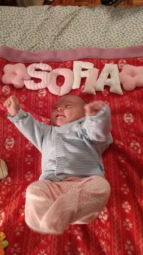 cartel de bienvenida nacimiento colgante