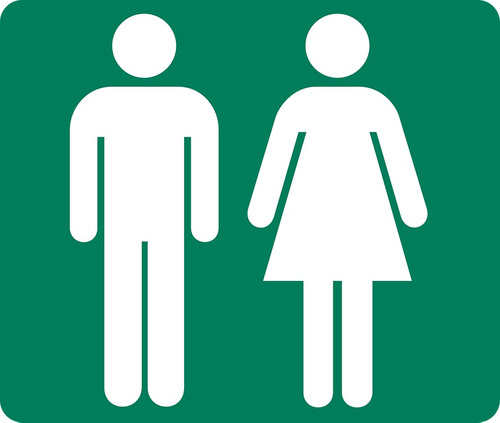 cartel de chapa baño hombre/mujer