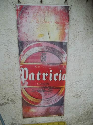 cartel de chapa cerveza patricia