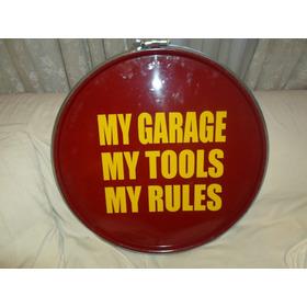 Cartel De Chapa My Tools My Rules Circular 60cm