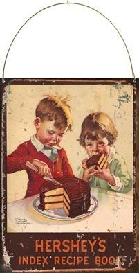 cartel de chapa publicidad antigua hershey's x664