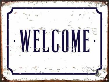 Resultado de imagen de foto del cartel que pone welcome