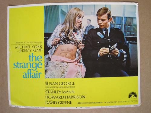 cartel de cine original 1968 the strange affair 28x35 vintge