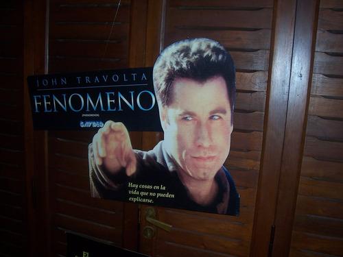 cartel de colgar de la pelicula fenomeno de john travolta