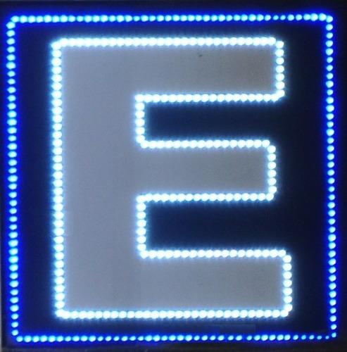 cartel de estacionamiento de led - doble y simple faz