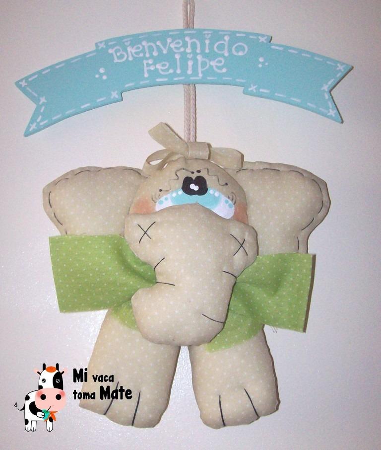 Cartel de nacimiento muñeco elefante bienvenido bebe    300,00 en ...