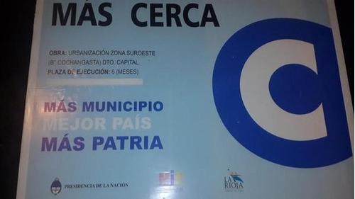 cartel de obra arquitectura la unión