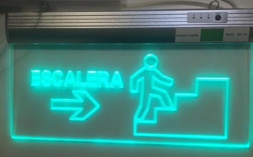 cartel de salida / escalera led en acriílico