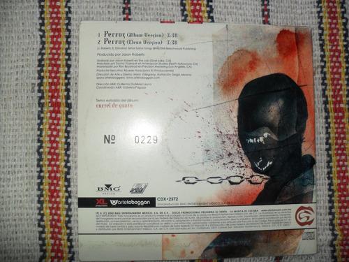 cartel de santa perros cd promo 2002 muy raro