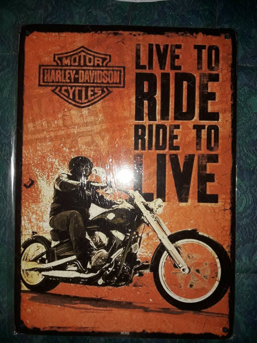 1b106455947ae cartel deco vintage motos harley davidson live to ride. Cargando zoom.
