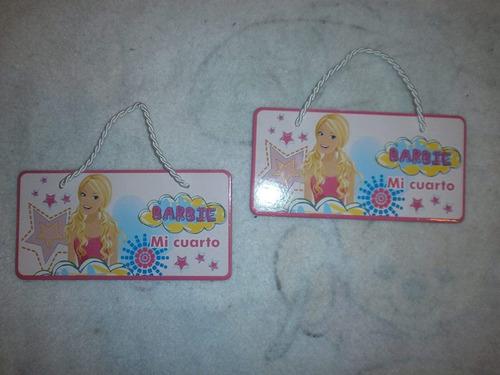 cartel decoracion cuarto niña.niño.nuevos.barbie/hot whheels