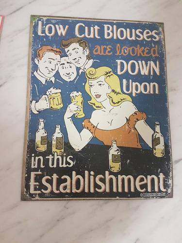 cartel decorativo - bar