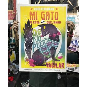 Cartel Del Gato. Cheo Feliciano. Afiche