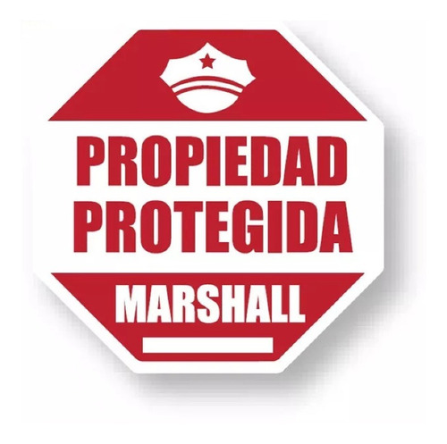 cartel disuasivo marshall propiedad protegida alarma crt-173