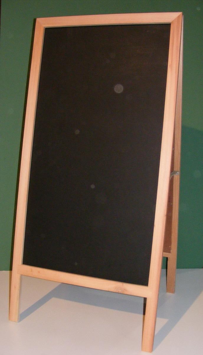 Cartel Doble Pizarra Para Tiza Marco De Madera Cedro 65x130 - $ 760 ...