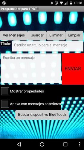 cartel electrónico led programable celular bluetooth android