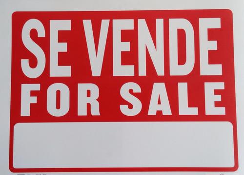 cartel en pvc se vende for sale