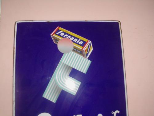 cartel enlozado termometro ferrania propaganda