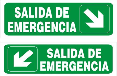 cartel evacuación salida entrada escalera medida 10x31