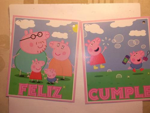 cartel feliz cum peppa,frozen,animales,minion,jorge,etc $ 75