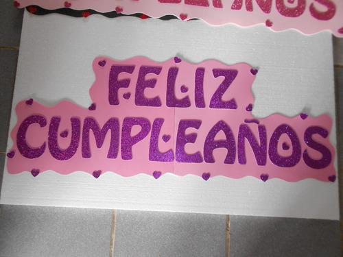 cartel feliz cumpleaños goma eva