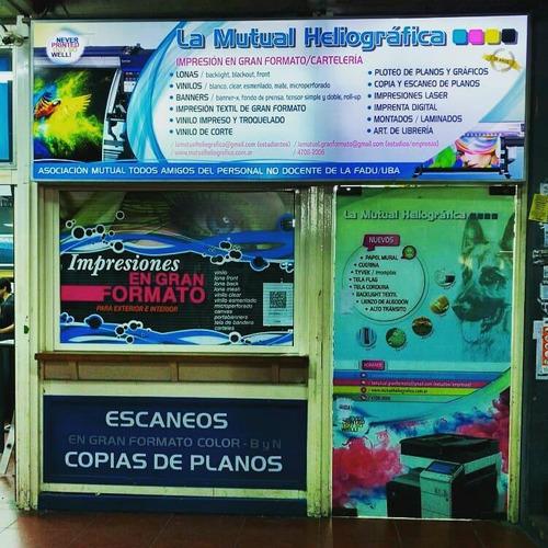 cartel frente negocio / comercio / local / marquesina