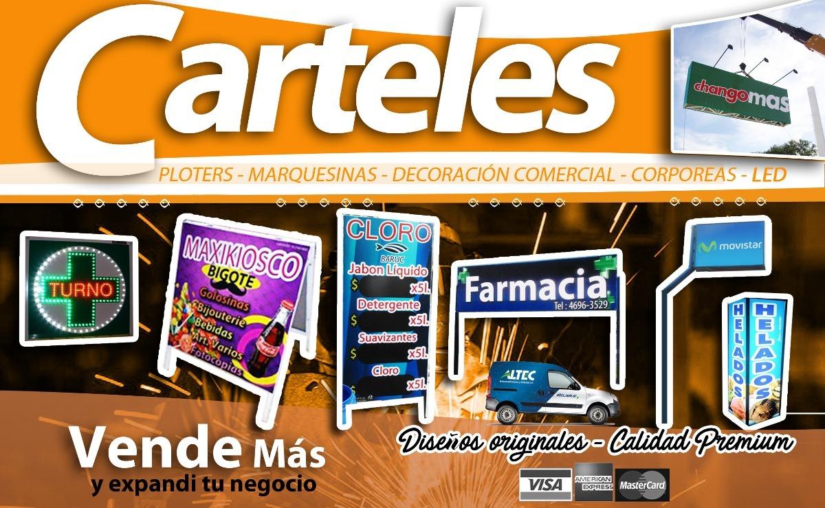 Cartel Frente Negocio Lona Premium - $ 50,00 en Mercado Libre