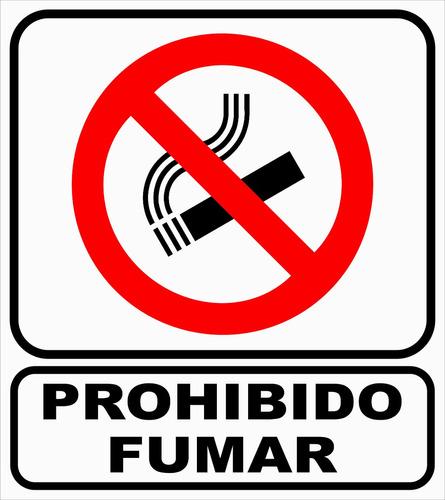 cartel gracias por no fumar 22x28 cm alto impacto oferta!!!