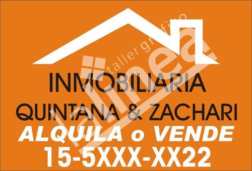 cartel inmobiliaria en vinilo de 50x70cm local almagro