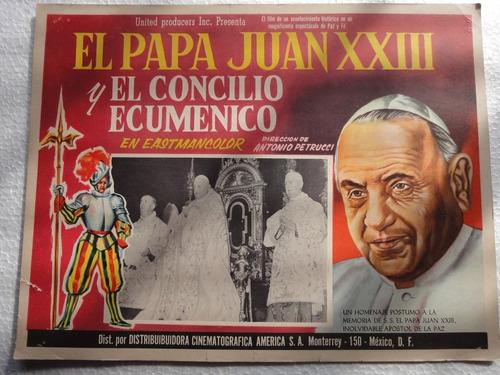 cartel la grande ora concilio ecumenico vaticano juan xxiii