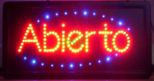 cartel led luminoso abierto y otros  para kiosco comercios