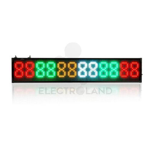 cartel led programable dinamico multicolor 1.35m